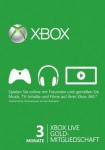 XBox Live Gold Card   3 Monate