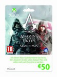 XBox Live  50€  Eurokarte - Assassins Creed Unity-Design