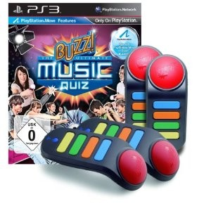 PS3 - Buzz! - Das Ultimative Musik-Quiz + 4 Wireless-Buzzer