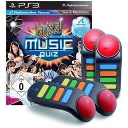 Buzz! - Das Ultimative Musik-Quiz + 4 Wireless-Buzzer PS3